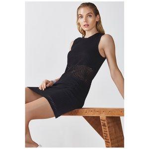 Fabletics Bryce Mesh Overlay Cutout Mini Dress, M